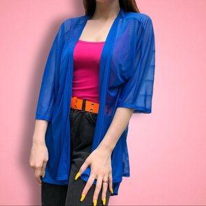 Lularoe blue Lindsay sheer Cardigan Kimono